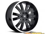 Чёрный Rhino Columbia Gloss Чёрный with Milled Spoke & Machine Lip Edge Диски 20x9 6x114.3 +20mm