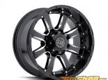 Чёрный Rhino Sierra Gloss Чёрный with Milled Spokes Диски 17x9 6x135 +12mm