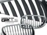 Решётка радиатора на  BMW 04-07 Чёрный Хром
