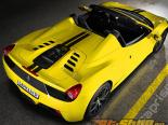 Capristo выхлоп Карбон Engine Glass капот Painted Ferrari 458 Spider 10-15