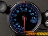 Defi Белый Racer 11000RPM тахометр 80mm (Metric) [DF07501]