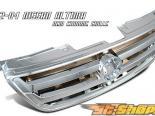 Хромированная решётка радиатора для  Nissan Altima 02-04
