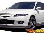 AutoExe Передняя губа 01 - Карбон - Mazda 6 03-08