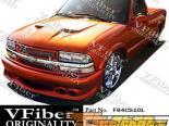 Передний бампер на Chevrolet S10 94-04 Lightning VFiber