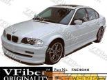 Накладка на передний бампер для BMW (E46) 99-01 TypeH VFiber