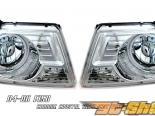 Передняя оптика для Ford F150 04-08 HALO CCFL Хром