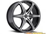 FOOSE 6 Speed F147 Чёрный with Machined Face Диски 22x9.5 5x130 +42mm