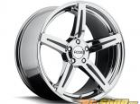 FOOSE Enforcer F153 Powder Хром with Чёрный Inserts Диски 20x10 5x120 +40mm