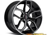 FOOSE Outcast F150 Gloss Чёрный with Milled Spokes & Lip Диски 20x8.5 5x120 +35mm