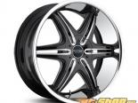 FOOSE Pinnacle F142 Чёрный with Machined Spokes & нержавеющий Lip Диски 24x9.5 6x127 | 6x127.5 +30mm