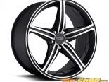 FOOSE Speed F136 Matte Чёрный with Machined Lip & Face Диски 22x9 5x120 +25mm