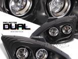 Передняя оптика для FORD FOCUS 00-04 Dual PROJECTOR Чёрный