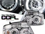 Передняя оптика на Ford F150 04-08 HALO PROJECTOR CCFL Хром