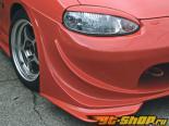 Garage Vary Передняя губа 04 Type A - Карбон - Mazda Miata 99-05