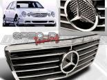 Решётка радиатора на Mercedes E-Class 00-02 Хром : Spec-D
