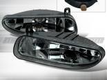 Противотуманные фары на Ford Mustang 99-04 Тёмный : Spec-D