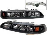 Передние фонари для Acura Integra 90-93 Чёрный