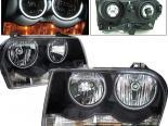 Передняя оптика для Chrysler 300C 04-07 Halo CCFL Black