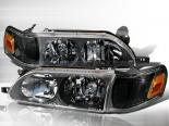 Передние фары на Toyota Corolla 93-97 Чёрный: Spec-D