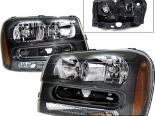Передняя оптика для Chevy Trail Blazer 02-05 Чёрный