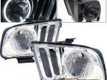 Передняя оптика на Ford Mustang 05-07 Halo Хром
