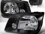 Передняя оптика для Volkswagen Jetta 99-05 Чёрный : Spec-D