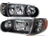 Передняя оптика на Toyota Corolla 01-02 Чёрный