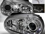 Передние фары на Volkswagen Golf 99-05 Projector передняя Хром : Spec-D
