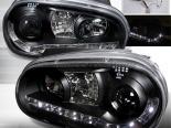 Передние фары на Volkswagen Golf 99-05 Projector Чёрный : Spec-D
