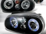 Передние фары для Volkswagen Golf 99-05 Halo Projector Чёрный : Spec-D