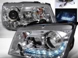 Передняя оптика для Volkswagen Jetta 99-04 Halo Projector Хром : Spec-D