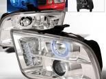 Передняя оптика для Ford Mustang 05-09 Halo Projector V2 Хром : Spec-D