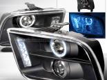 Передняя оптика на Ford Mustang 05-09 Halo Projector Чёрный V2: Spec-D