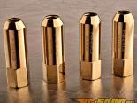 NRG Хром золотой 4 части Extended M12 x 1.5 Lug Nut Set универсальный