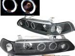 Передние фонари для Acura Integra 90-93 Dual Halo Projector Чёрный