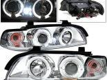 Передняя оптика для BMW 97-01 Dual Halo Projector Хром