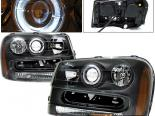 Передняя оптика для Chevy Trail Blazer 02-05 Halo Projector Чёрный