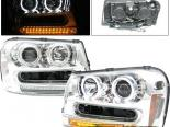 Передняя оптика для Chevy Trail Blazer 02-05 Halo Projector CCFL Chrome