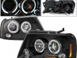 Передняя оптика на Ford F150 04-07 Halo Projector Чёрный