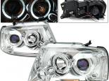 Передняя оптика для Ford F150 04-07 Halo Projector Хром