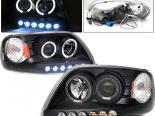 Передняя оптика на Ford F150 97-02 Dual Halo Projector Headlights  Black