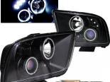 Передняя оптика на Ford Mustang 05-07 Halo Projector CCFL Чёрный