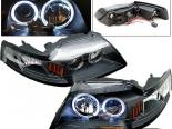 Передние фары на Ford Mustang 99-04 Halo Projector Чёрный