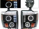 Передние фары на Ford F250 08-10 Halo Projector Чёрный
