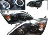 Передние фонари для Honda CRV 07-08 Halo Projector CCFL Black