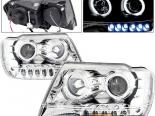 Передние фары на Jeep Grand Cherokee 99-04 Dual Halo Projector Chrome