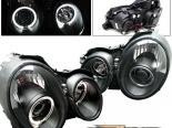 Передние фары на Mercedes 98-02 Halo Projector Чёрный
