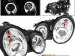 Передние фары для Mercedes 98-02 Halo Projector Хром