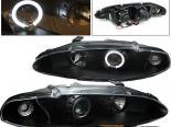 Передние фары для Mitsubishi Eclipse 95-96 Halo Projector Чёрный