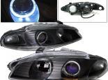 Передние фары для Mitsubishi Eclipse 97-99 Halo Projector Чёрный